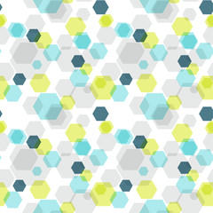 Geometric hexagon seamless pattern