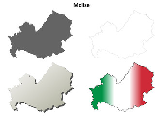 Molise blank detailed outline map set