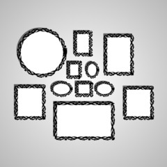 Picture frame vector.