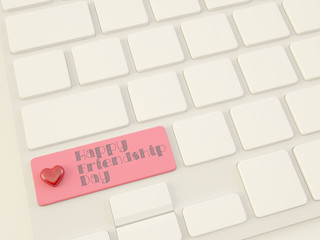 happy friendship day, heart on enter key