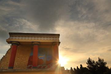 Knossos palace archaeological site Crete Greece