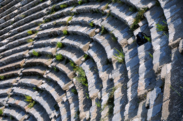 Closeup Fragment of Ancient Theater in Ephesus