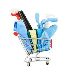 Multiple cleaning instruments in a cart