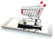Tablet PC and smart phone with shopping cart