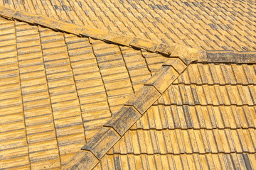 Old tile roof.