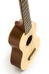 Ukulele  isolated on white Clipping path included