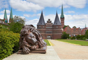 Holstein Gate, Lubeck, Germany