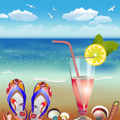 Summer holidays vector illustration