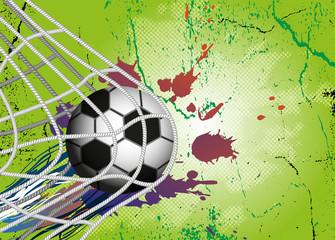 Soccer Ball on background for Football Design