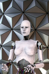 Android robot cyber female