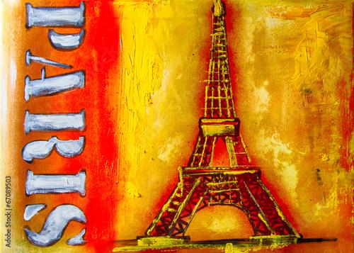 Aluminium Olieverf Kunstdruk Ölgemälde Gemälde Kunstdruck artprint Kunst Paris