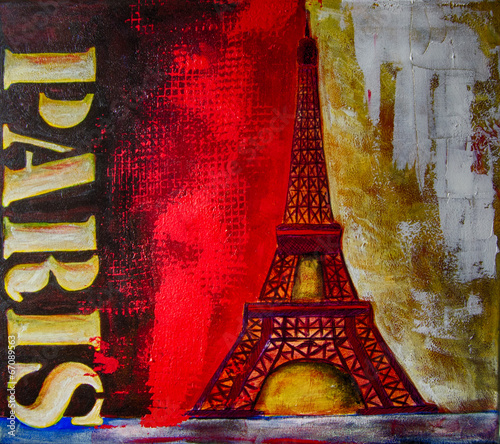 Ölgemälde Gemälde Kunstdruck artprint Kunst Paris © artefacti