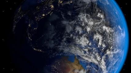Erde dreht sich slow