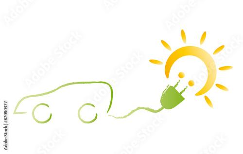 energiewende verwendung alternativer energiequellen elektroauto f hrt mit solarstrom gr ne. Black Bedroom Furniture Sets. Home Design Ideas