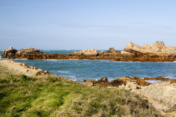 Coastal scene on guernsey,  Channel Islands