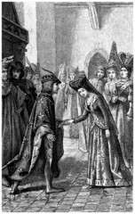 Medieval Court : Presenting the Bride - 14th century