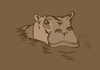 Vintage hippo