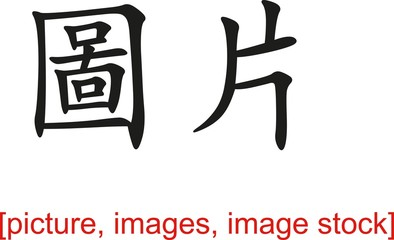 Chinese Sign for picture, images, image stock