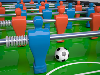 detail of table football toy