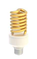 Energy saving bulb isolated