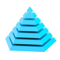 Divided into segments pyramid