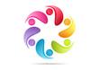 Teamwork business creative logo abtract success association