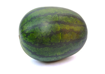 fresh green watermelon isolated