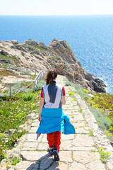 Girl on the path, Giglio Island, Italy