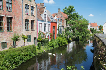 Bruges - Canal from bridge on Ezelsraat.