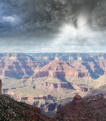 Cloudy sky over Grand Canyon Mountains, USA