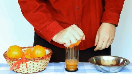 preparation of drinks orange