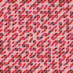 Mosaic of triangles in shades of red