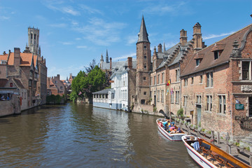 Bruges - View from the Rozenhoedkaai canal