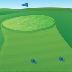 Golf Target Illustration