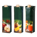 different juices cartons with screw cap