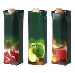 different juices packs with screw cap