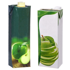 apple juice cartons with screw cap