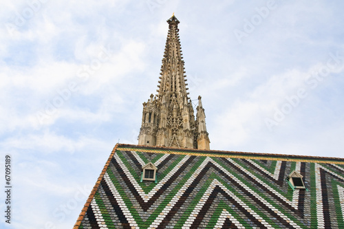 Tower and roof of St. Stephen's Cathedral. Vienna. Austria