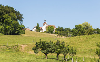 Basel, St. Chrischona, Kirche, Sommerausflug, Schweiz