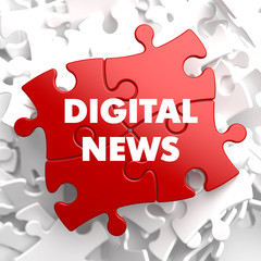 Digital News on Red Puzzle.