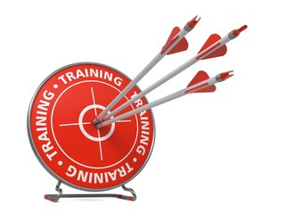 Training in Red Color Hit Target.