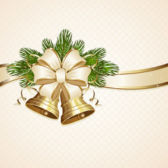 Bow and Christmas bells
