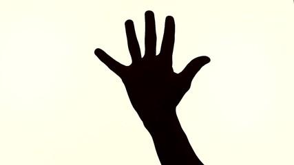 silhouette fingers