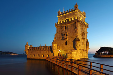 Belem Tower night scene