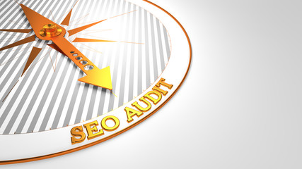 Seo Audit on White Golden Compass.