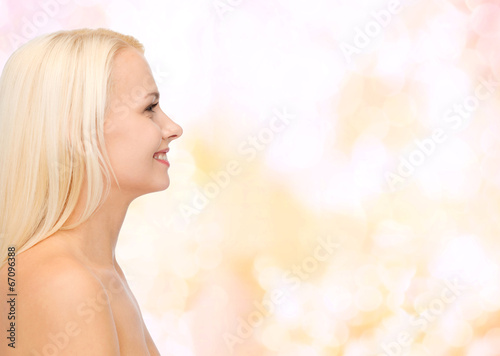 canvas print picture smiling young woman