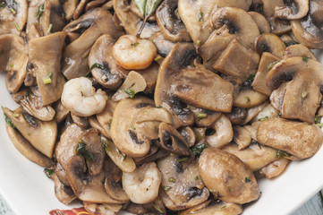 Mushrooms with prawns series 05