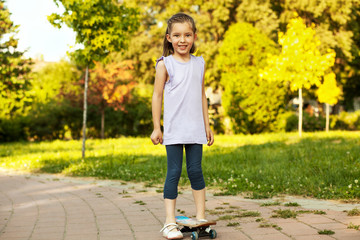 Girl and skateboard