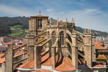 Eglise de Castro Urdiales, en Cantabrie, Espagne.