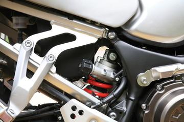 crenatura telaio di moto sportiva